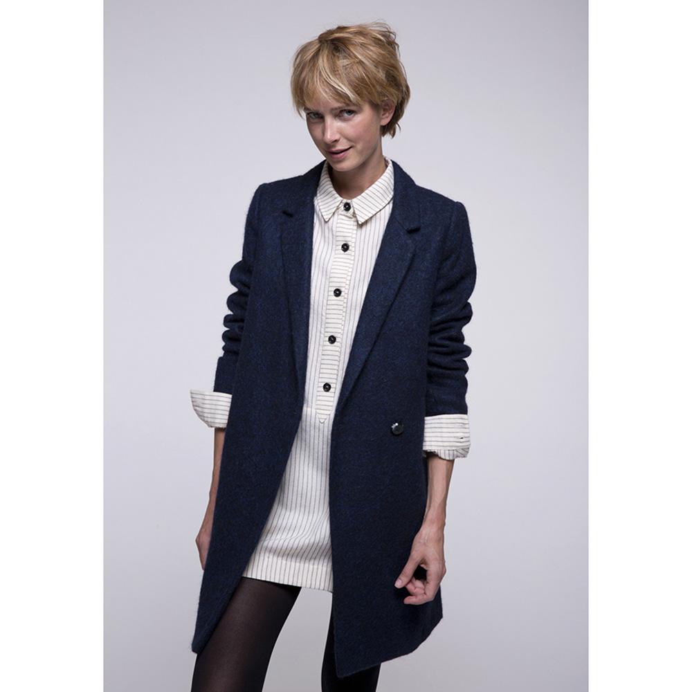 Пальто Trench & Coat с расширенным силуэтом синего цвета