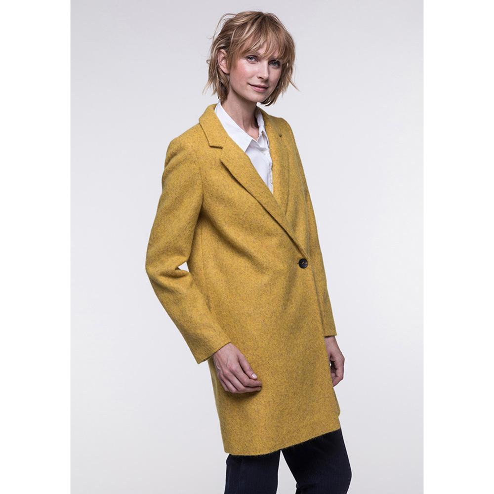 Двубортное пальто Trench & Coat с карманами желтого цвета