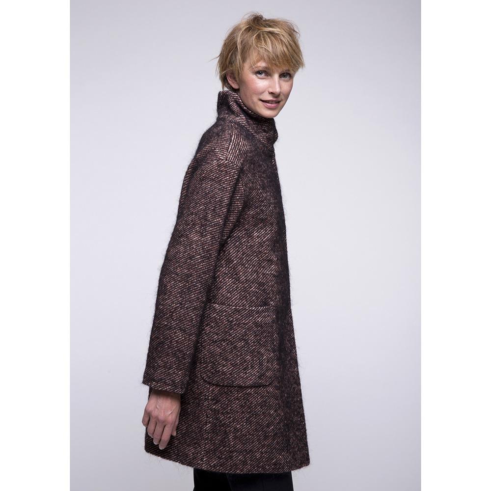 Пальто Trench & Coat с воротником стойкой коричневого цвета