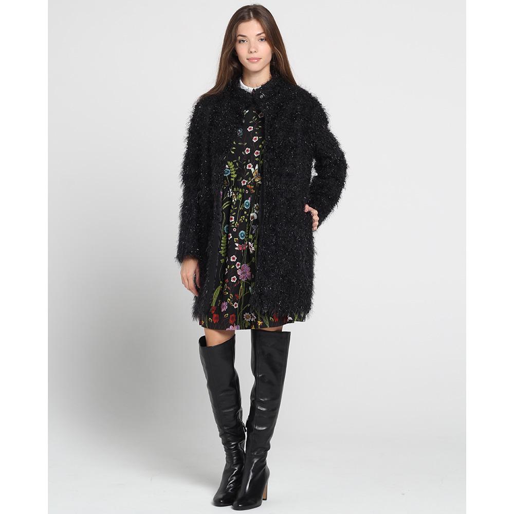 Черное пальто Blugirl Blumarine оверсайз