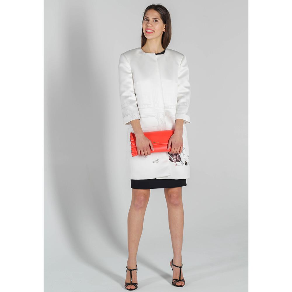 Весеннее пальто Elisabetta Franchi белого цвета