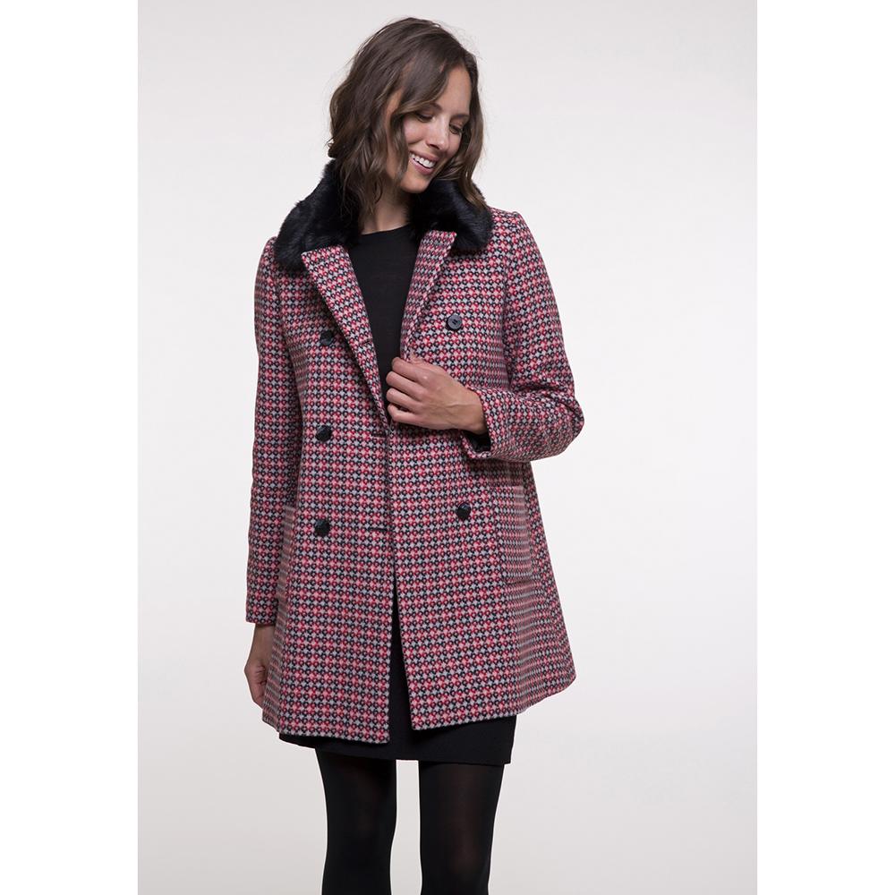 Пальто Trench & Coat со съемным воротником красного цвета