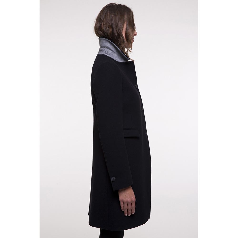 Пальто двубортное Trench & Coat синего цвета