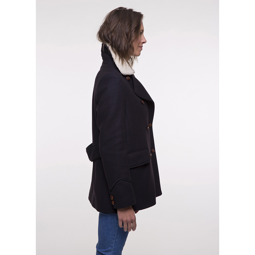 Пальто Trench & Coat со съемным воротником синего цвета