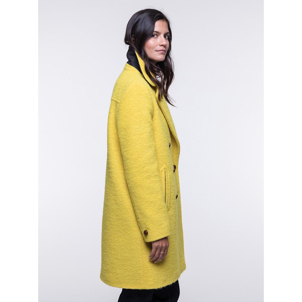 Двубортное пальто Trench & Coat прямого силуэта желтого цвета
