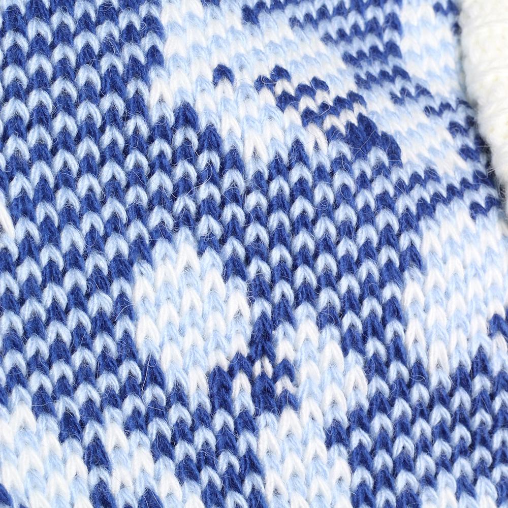 Белое пончо Nit.ka с синими узорами