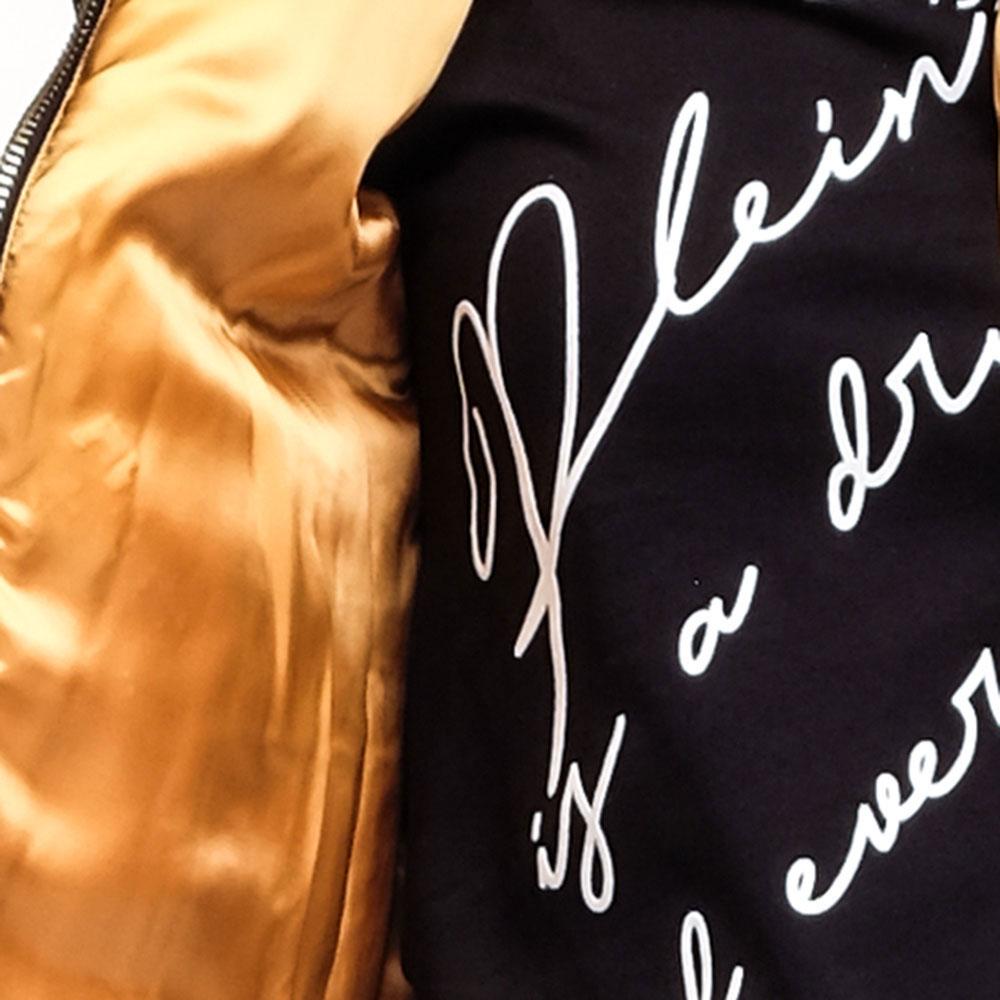 Черная куртка Philipp Plein Skull с черепом из страз на спине