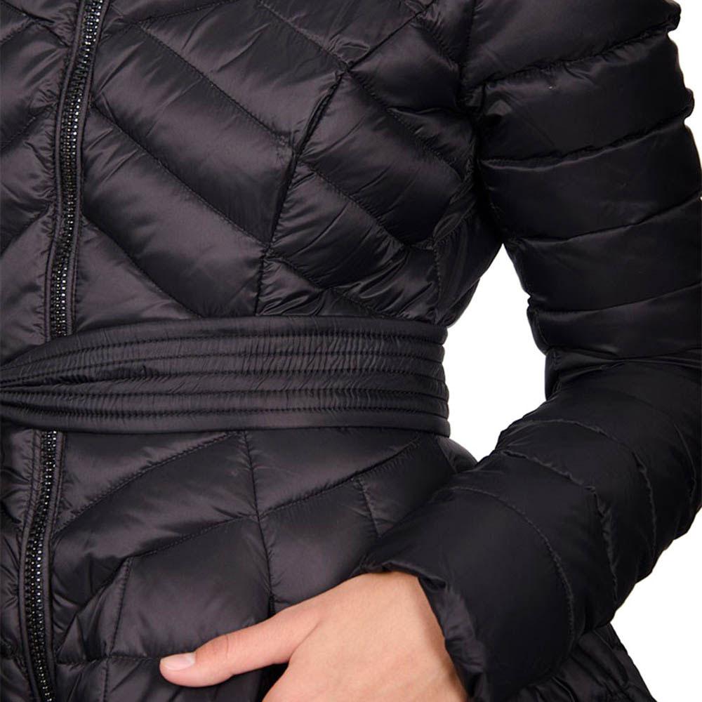 Пуховик Odri черного цвета с расклешенным низом