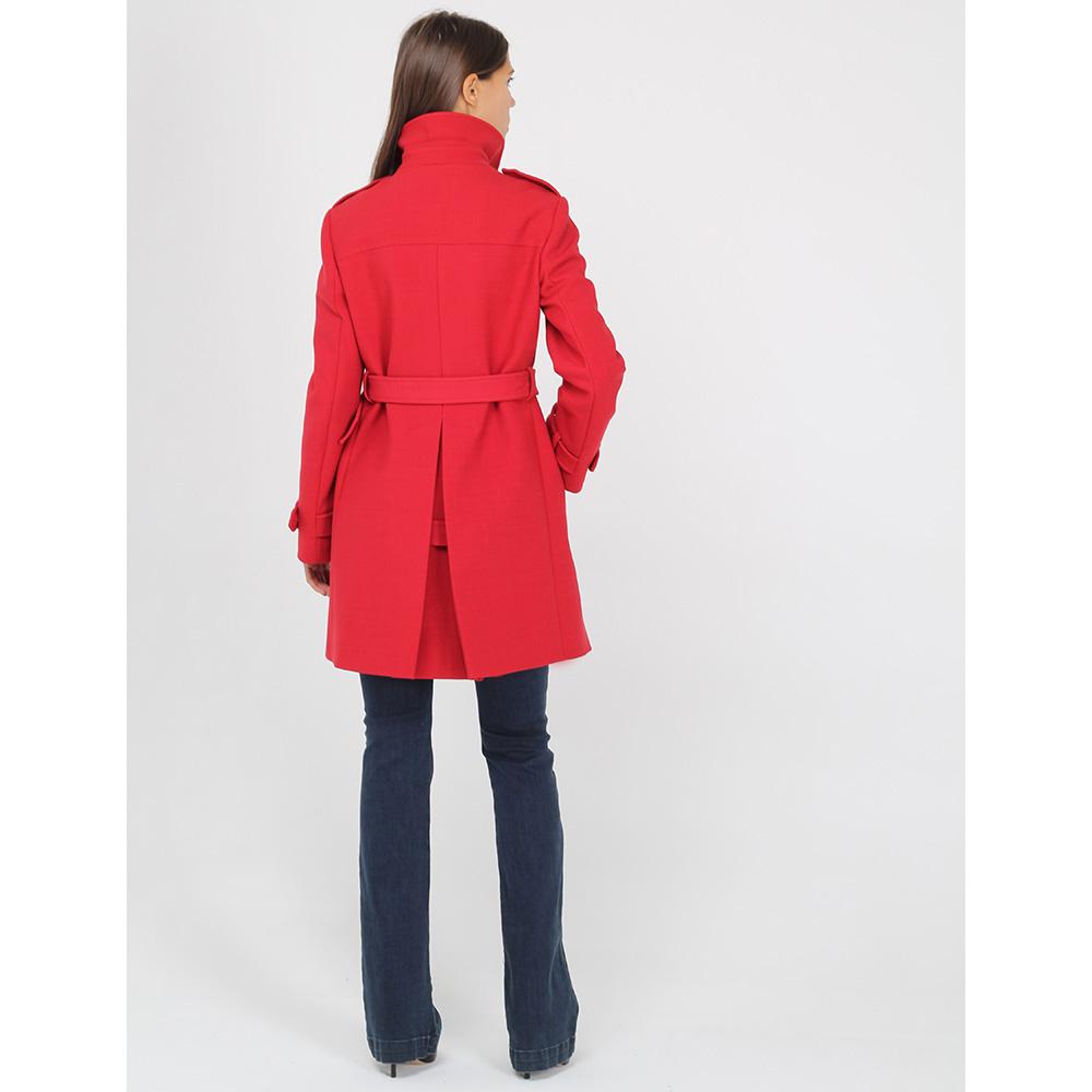 Демисезонное двубортное пальто Red Valentino красного цвета