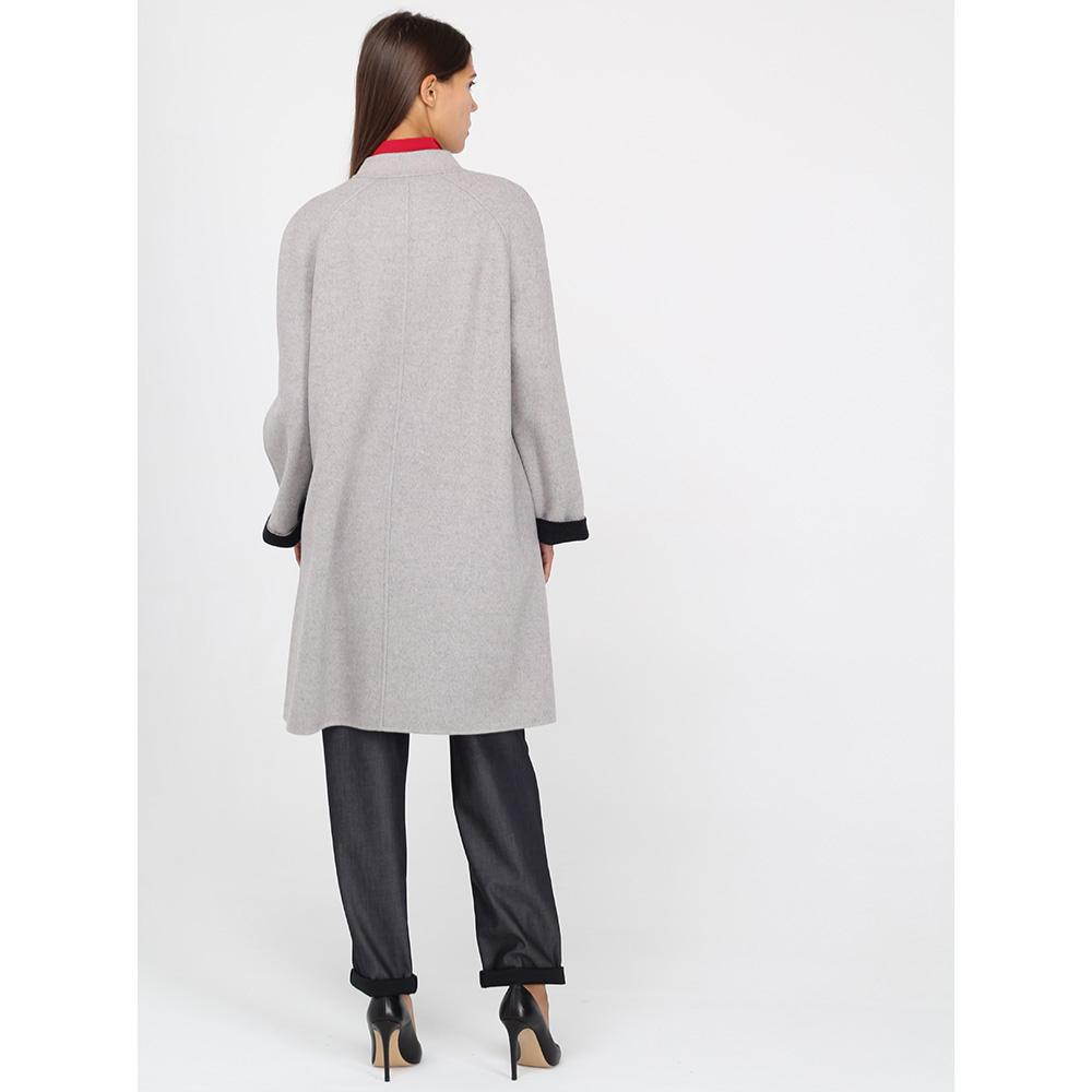 Шерстяное пальто Emporio Armani серое
