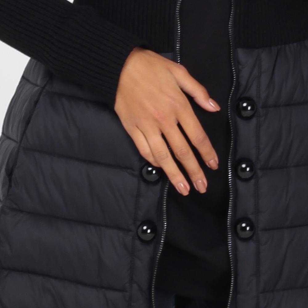 Стеганое пальто Emporio Armani средней длины