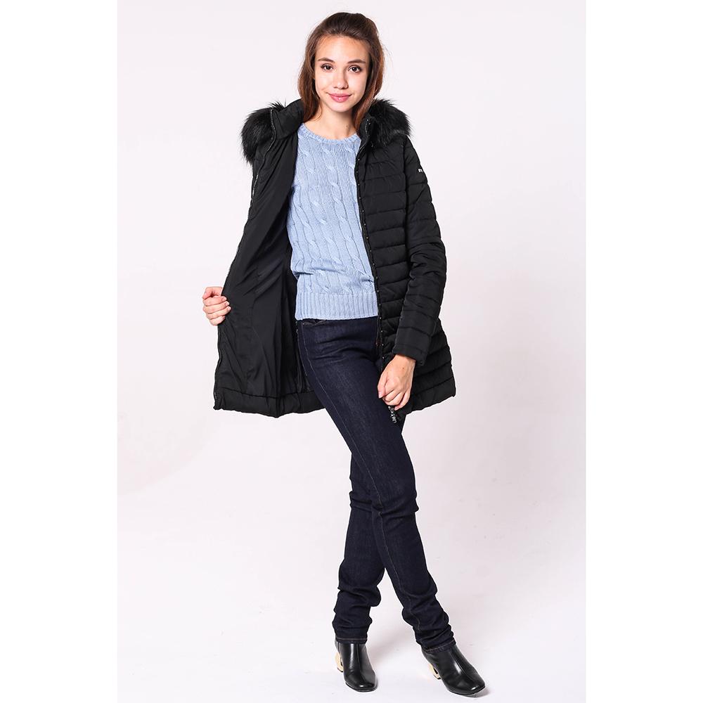 Куртка Emporio Armani черного цвета с капюшоном
