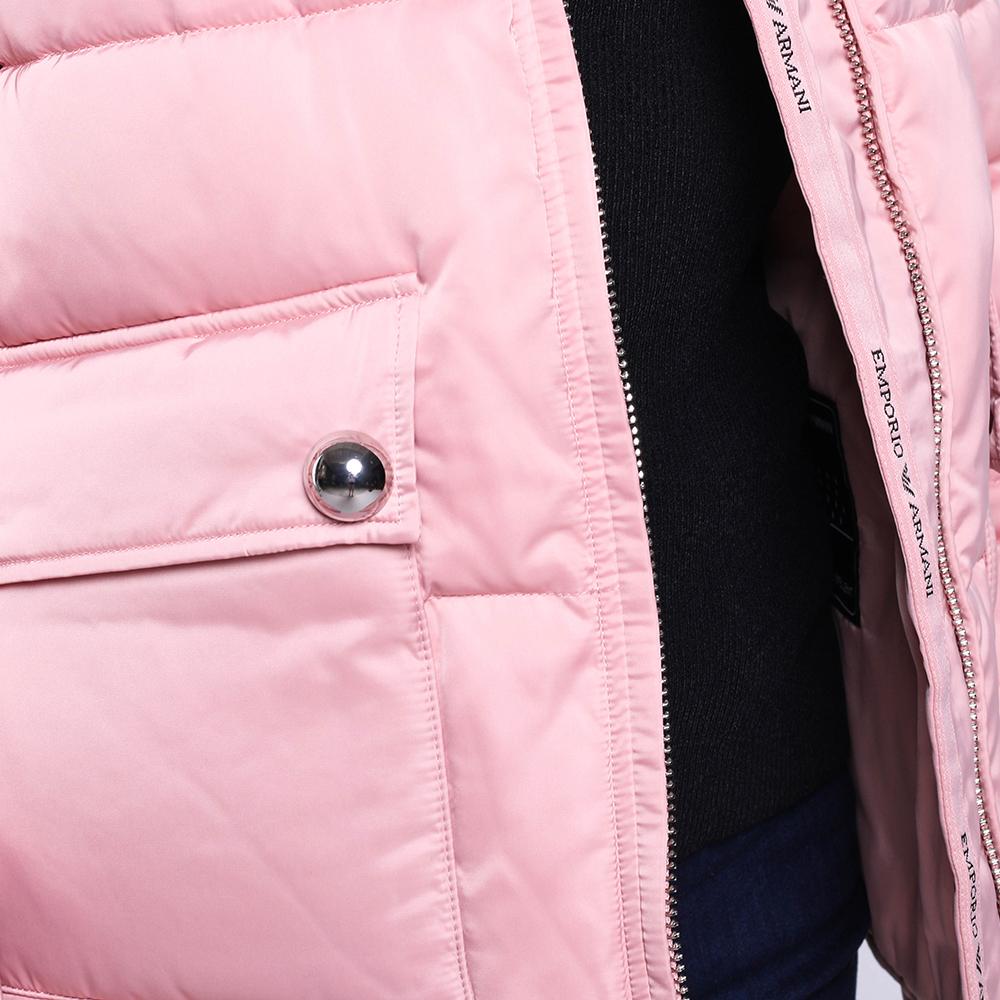 Розовая куртка Emporio Armani с капюшоном