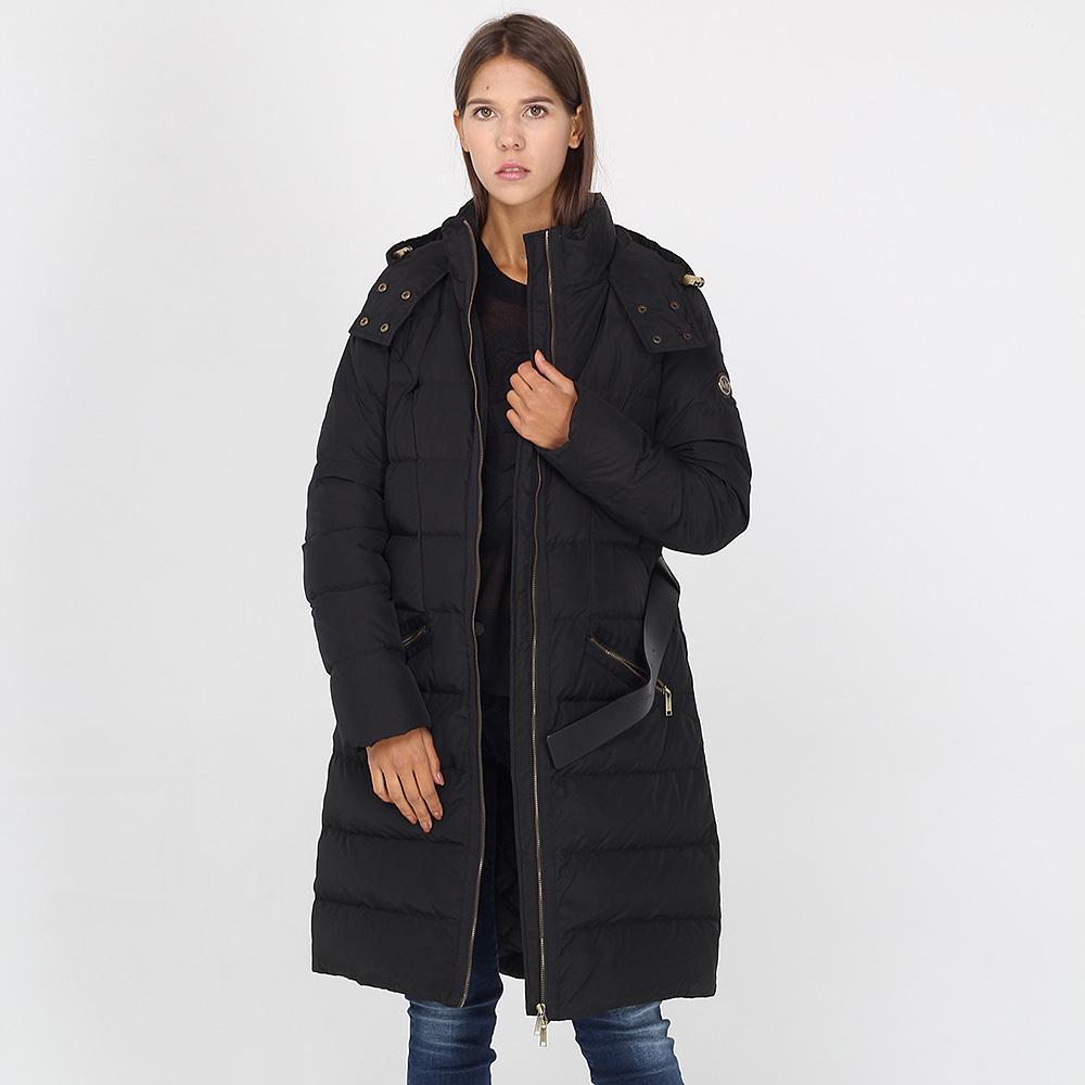 Зимняя куртка Michael Kors черного цвета средней длины