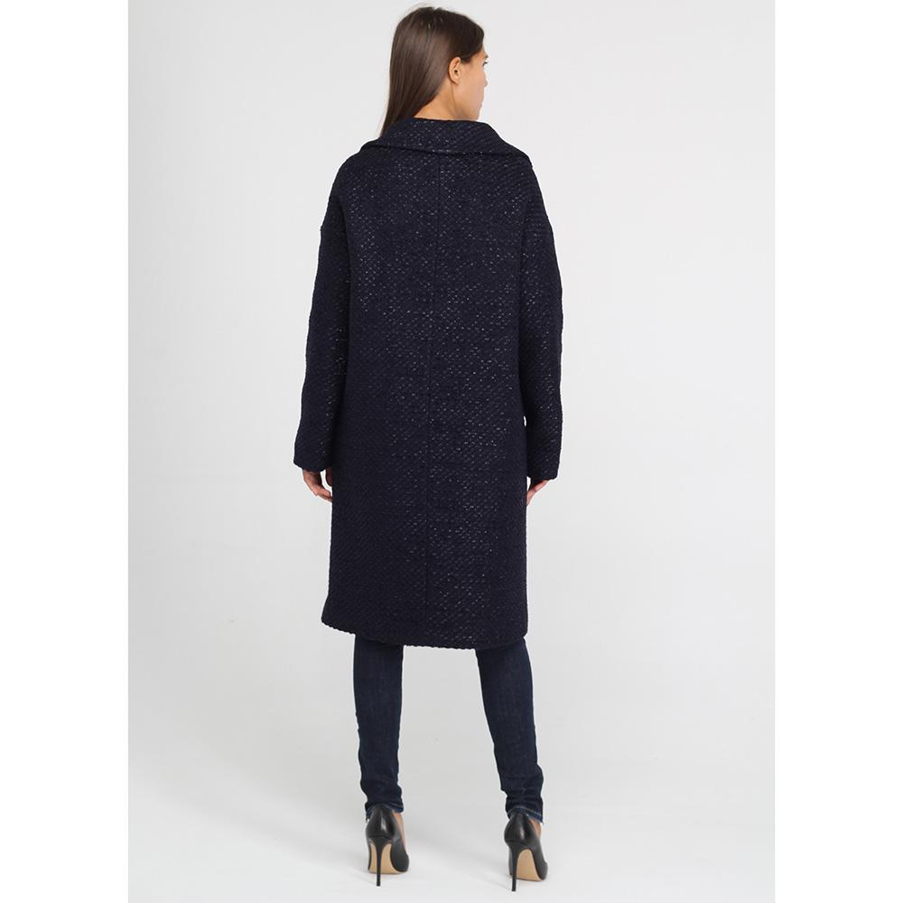 Пальто Herno прямого кроя синего цвета