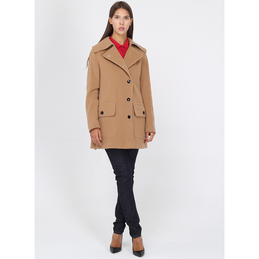 Бежевое пальто Bogner с крупными пуговицами