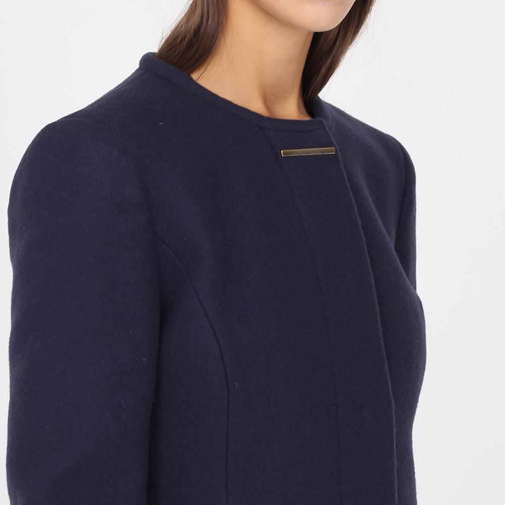 Пальто Armani Jeans приталенное синего цвета