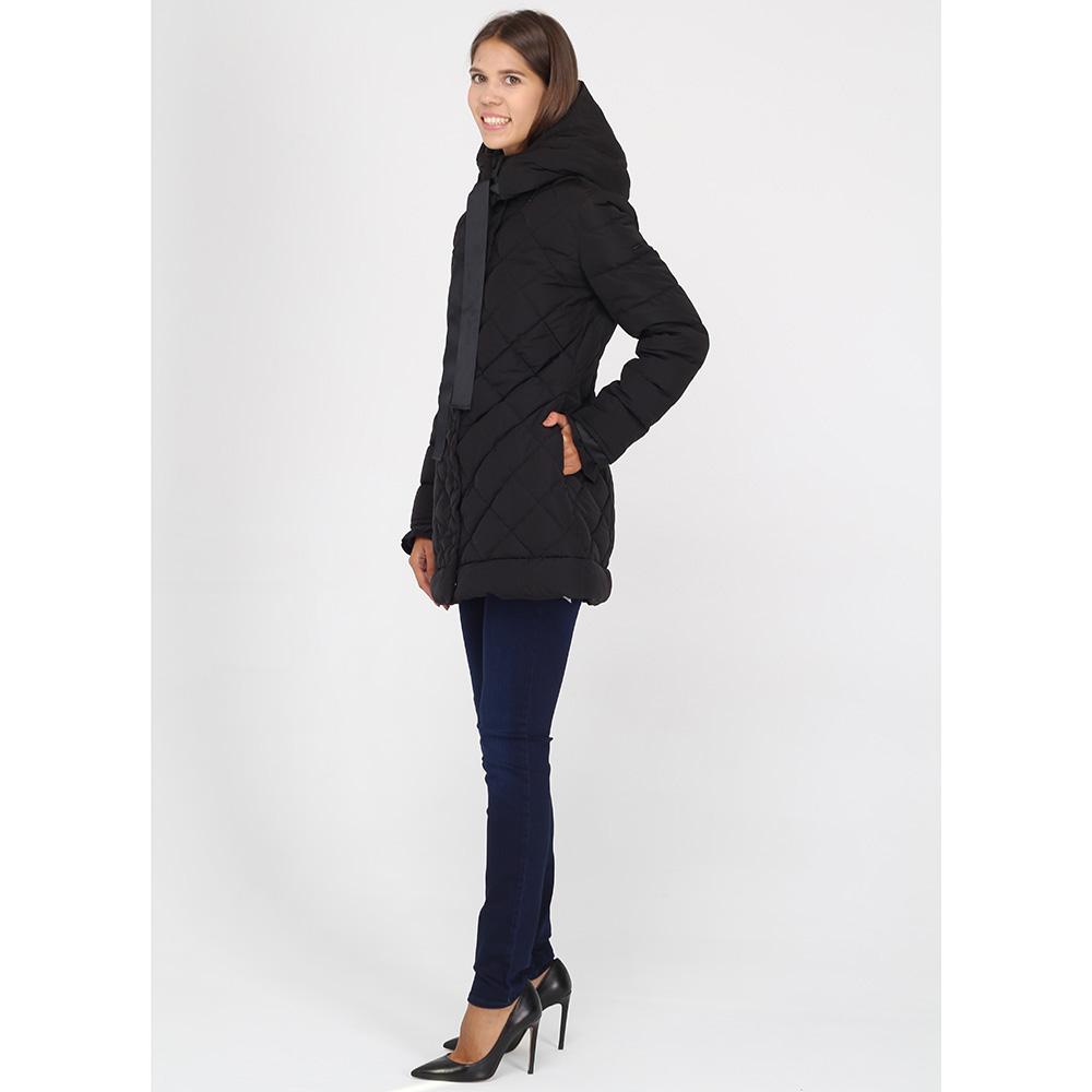 Стеганая куртка Armani Jeans черного цвета на кнопках