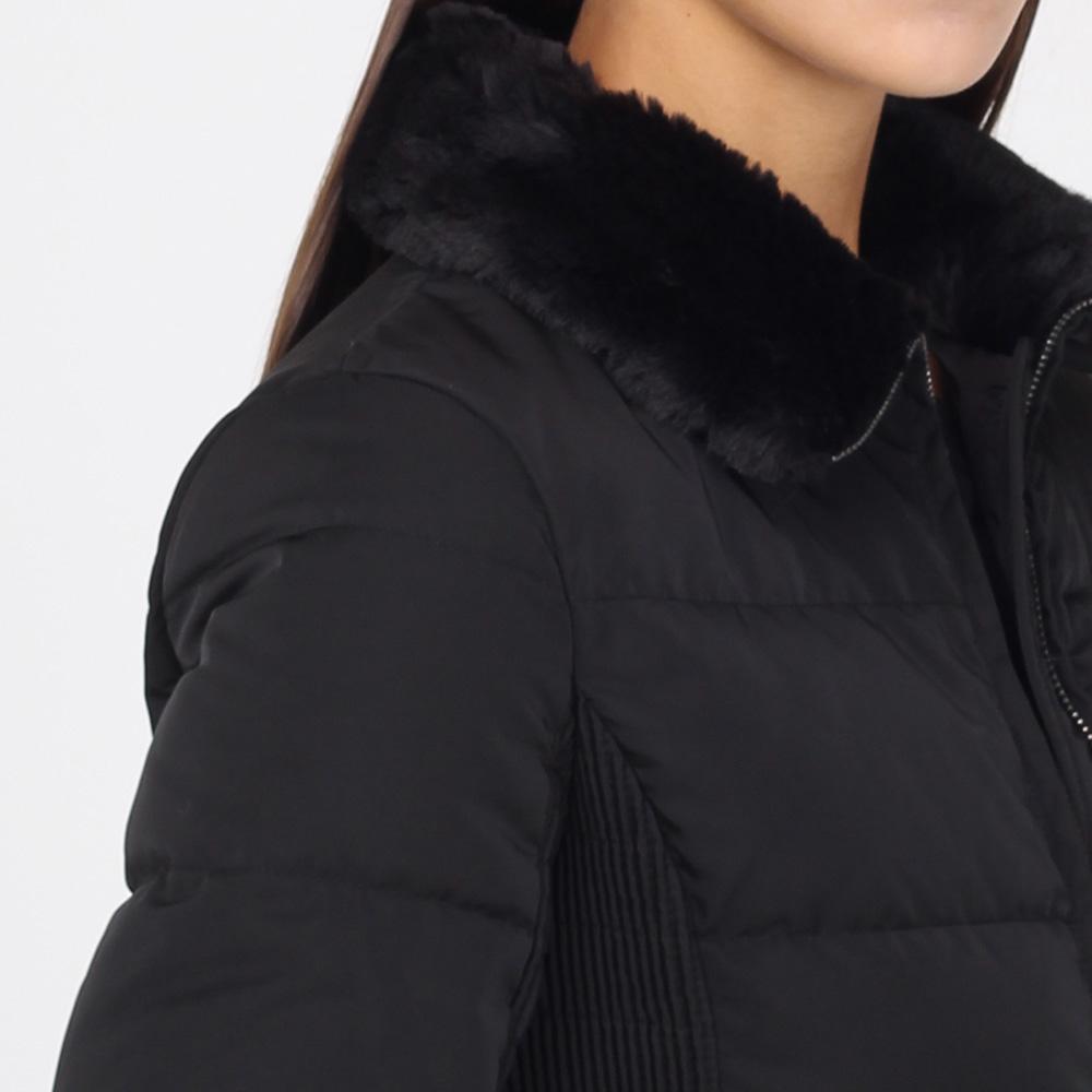 Пальто-пуховик Armani Jeans черного цвета на молнии