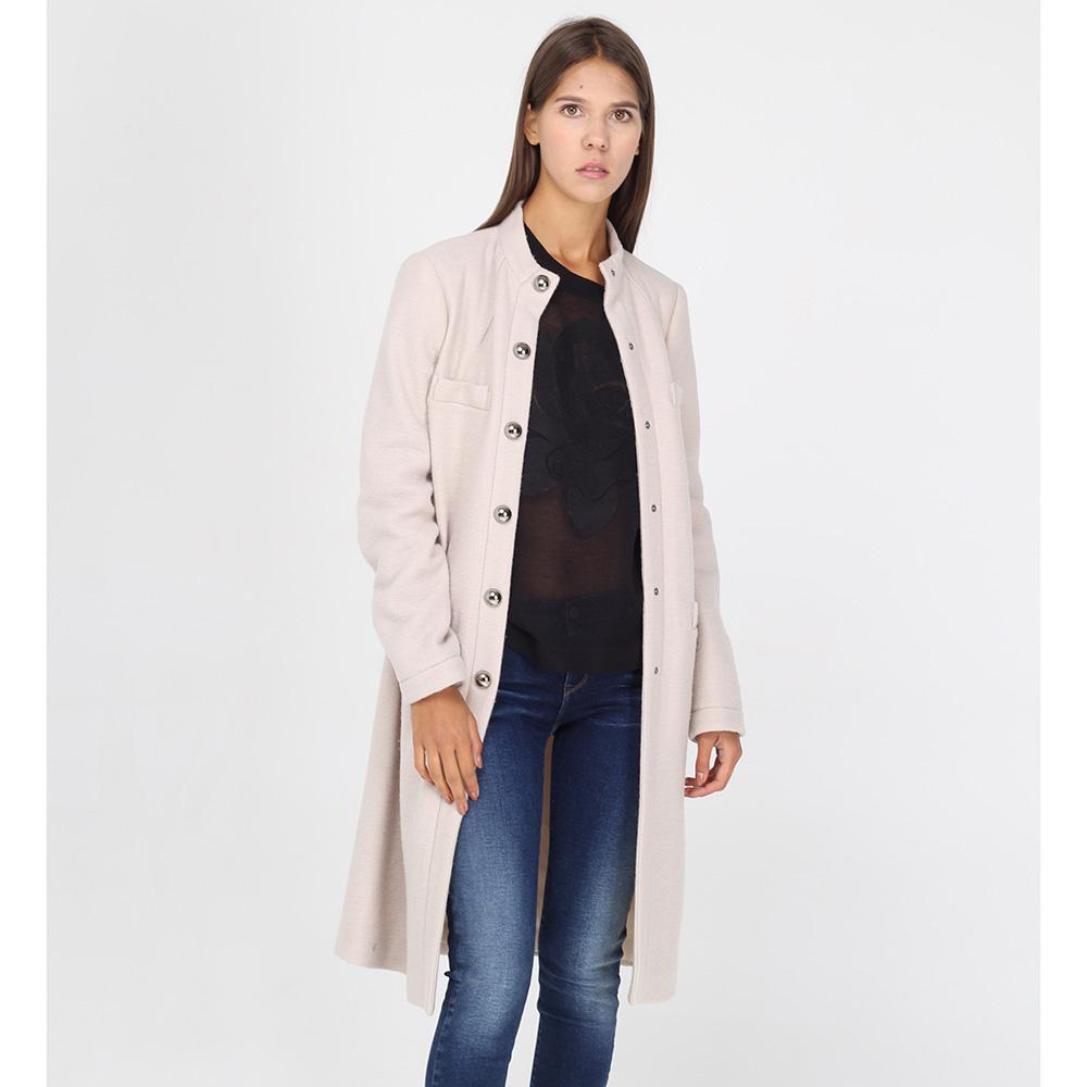Пальто а-силуэта Armani Jeans бежевого цвета