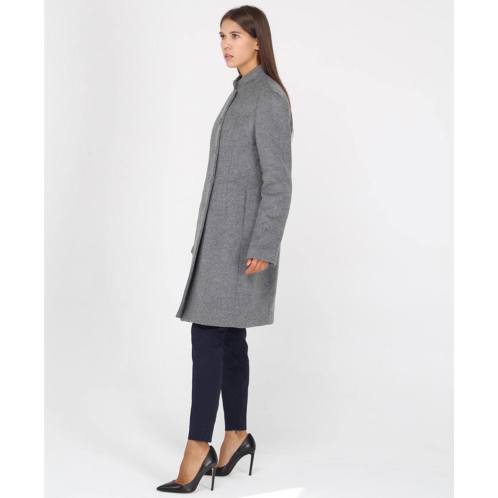 Приталенное пальто Armani Jeans серого цвета