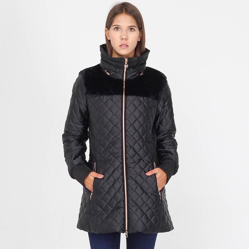Стеганая куртка Ea7 Emporio Armani черного цвета