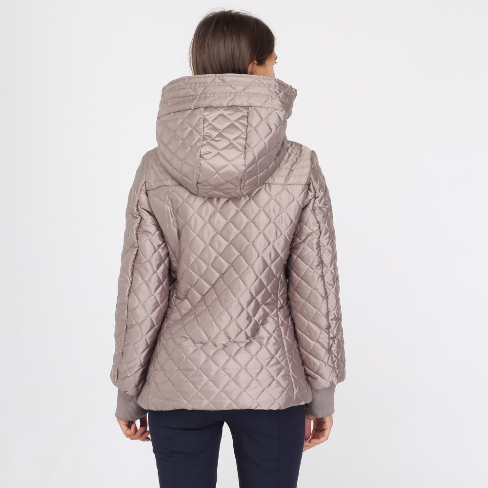 Стеганая куртка Ea7 Emporio Armani серого цвета