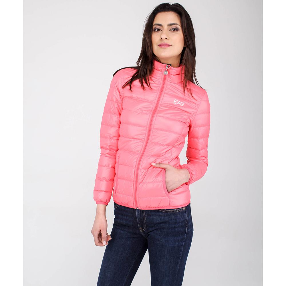 Стеганая пуховая куртка Ea7 Emporio Armani розового цвета