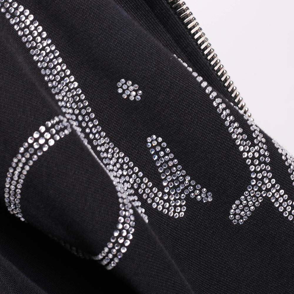 Спортивная куртка Philipp Plein черного цвета на молнии