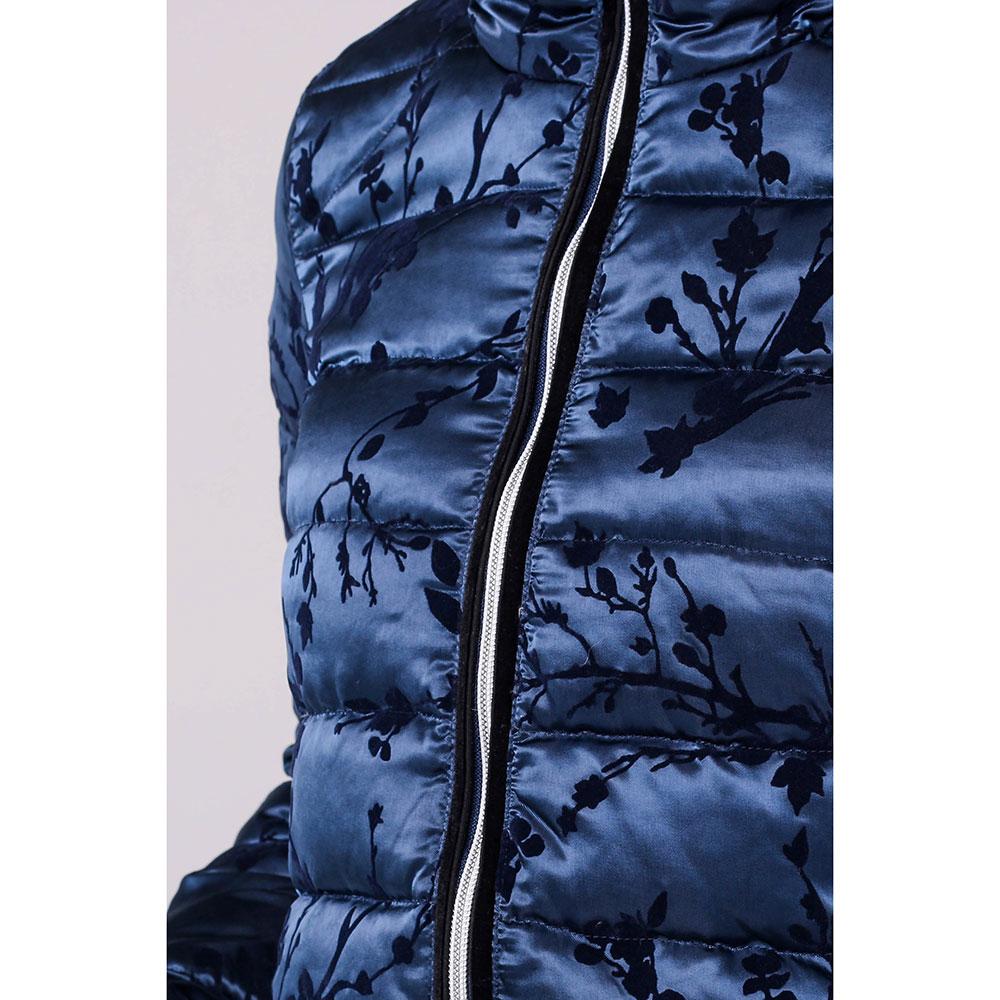 Синяя куртка Ea7 Emporio Armani с горизонтальной стежкой