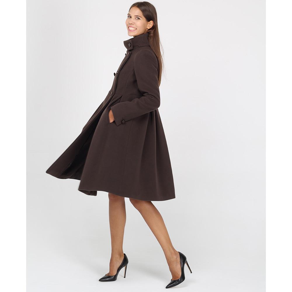 Шерстяное пальто Emporio Armani коричневого цвета