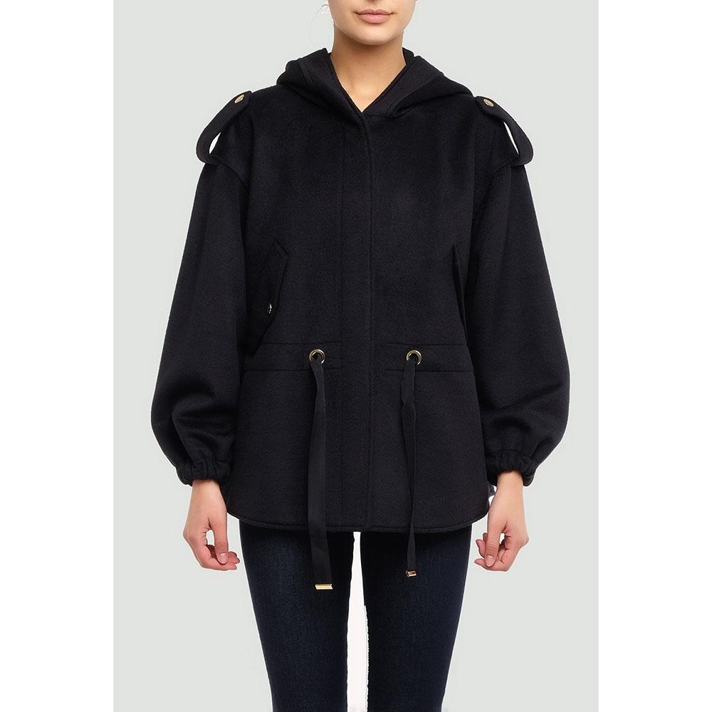 Черная куртка Twin-Set свободного кроя
