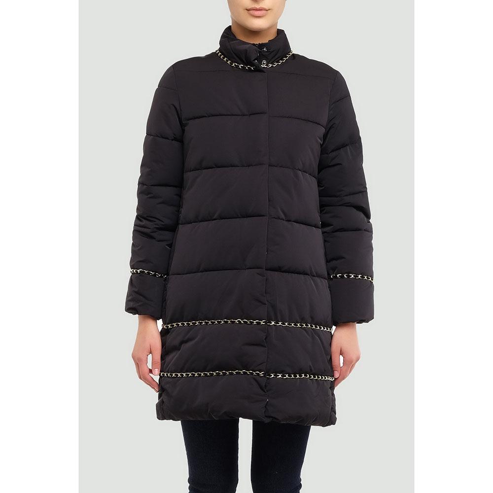 Черная куртка Twin-Set расклешенного кроя