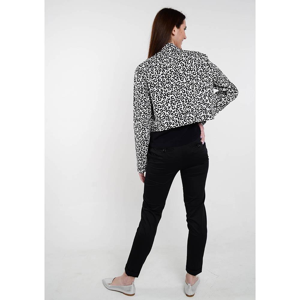 Короткая демисезонная куртка Love Moschino с анималистическим принтом