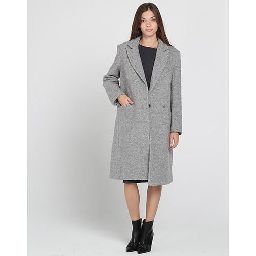 Пальто прямого кроя Kristina Mamedova серого цвета, фото