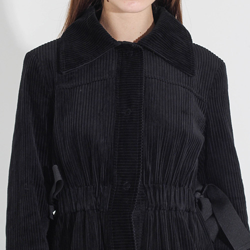 Вельветовое пальто-миди Sandro Ferrone приталенное, фото