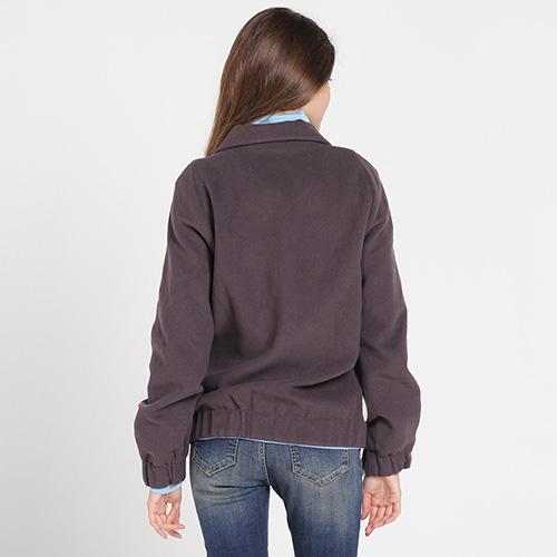 Куртка на пуговицах Kristina Mamedova из шерсти фиолетового цвета, фото