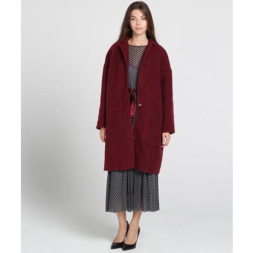 Пальто оверсайз Kristina Mamedova бордового цвета, фото