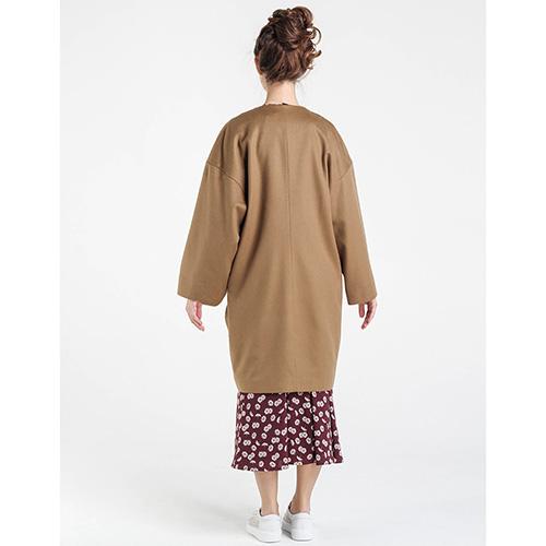Шерстяное пальто оверсайз Shako коричневого цвета с широкими рукавами, фото
