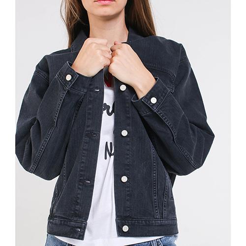 Джинсовая куртка Quantum Courage черного цвета, фото