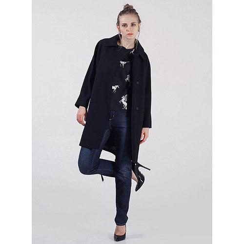 Двубортное зимнее пальто Cerruti черного цвета, фото