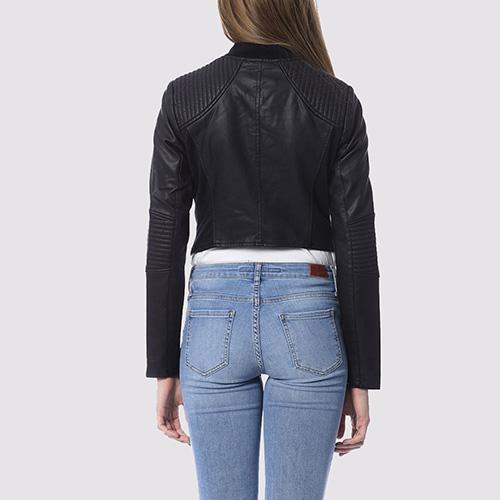 Черная укороченная куртка Silvian Heach на молнии, фото