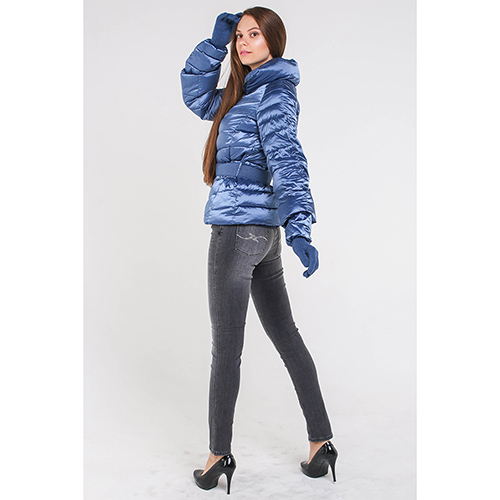Синяя куртка Trussardi Jeans с перчатками в комплекте, фото