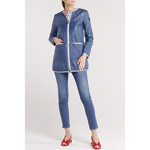 Двухсторонняя куртка Trussardi Jeans с геометрической стежкой, фото