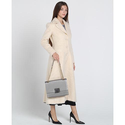 Шерстяное пальто-миди Kristina Mamedova бежевого цвета, фото