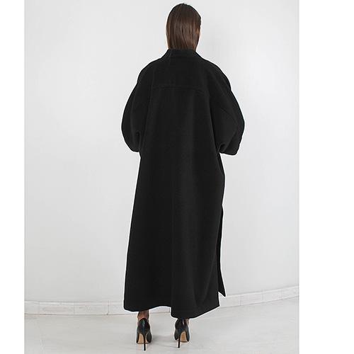 Кашемировое пальто Plein Sud с отделкой из кожи, фото