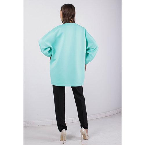 Куртка FOREVER UNIQUE мятного цвета с укороченным рукавом, фото