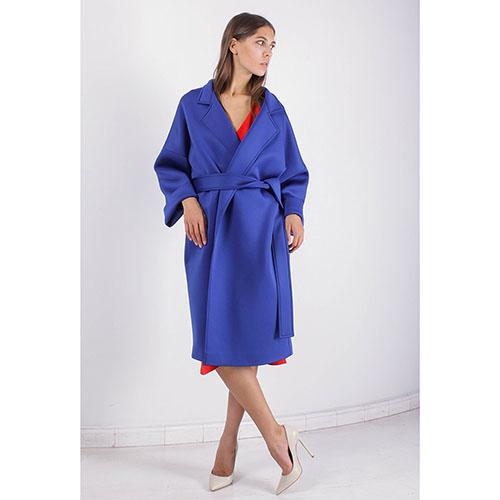 Пальто-кимоно FOREVER UNIQUE синего цвета, фото