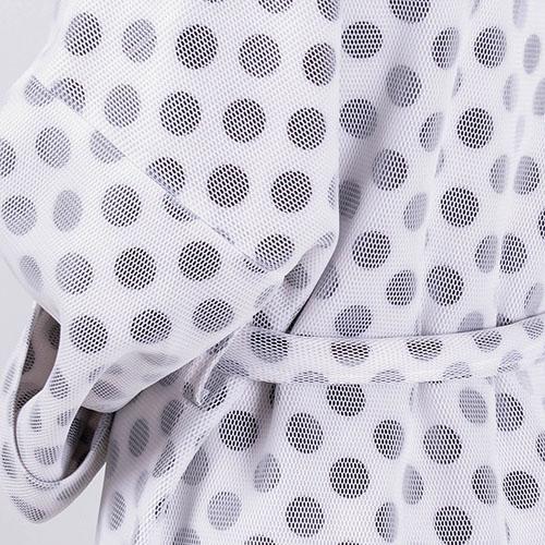 Пальто FOREVER UNIQUE белое в серый горох, фото