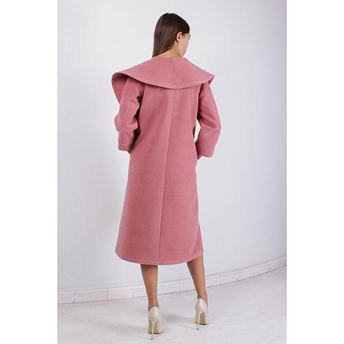 Пальто Plein SUD с объемным воротником розового цвета, фото
